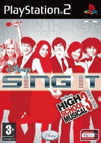 DISNEY SING IT HIGH SCHOOL MUSICAL 3 SENIOR YEAR PS2 SONY NUOVO ITALIANO