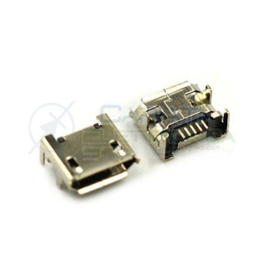 2 Pezzi Connettore Presa Micro USB B 5 pin
