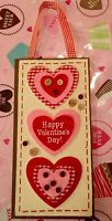 Valentines Day Heart Door Wreath Wall Hanging Decor Floral Pick Swag Wood 12