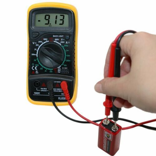 New Handheld 9V LCD Digital Multimeter AC DC OHM Current Tester Electrical Auto