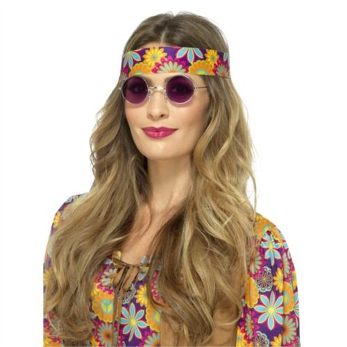 Adults Mirrored Mens Ladies 60s 70s Hippy Fancy Dress Accessory Hippie Specs