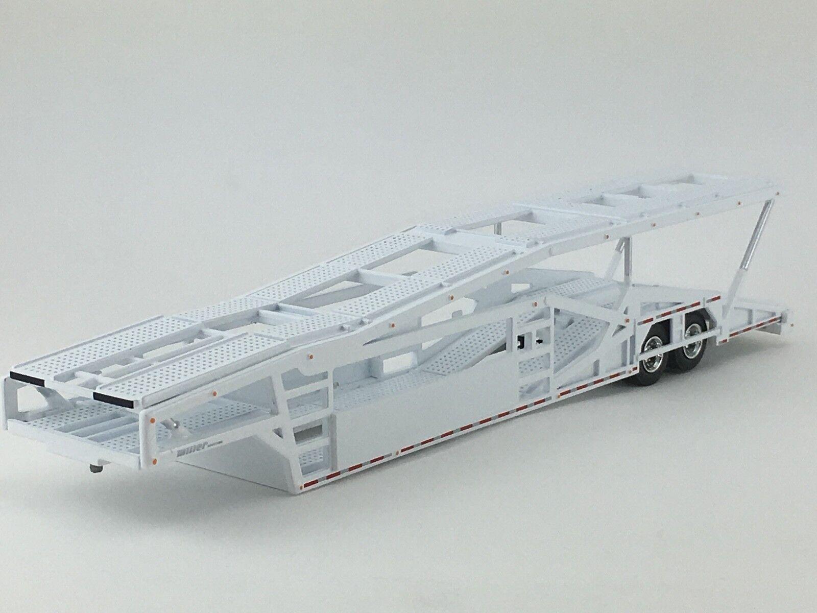 1 64 SPECCAST WHITE 5 CAR MILLER CAR CARRIER TRANSPORT TRAILER