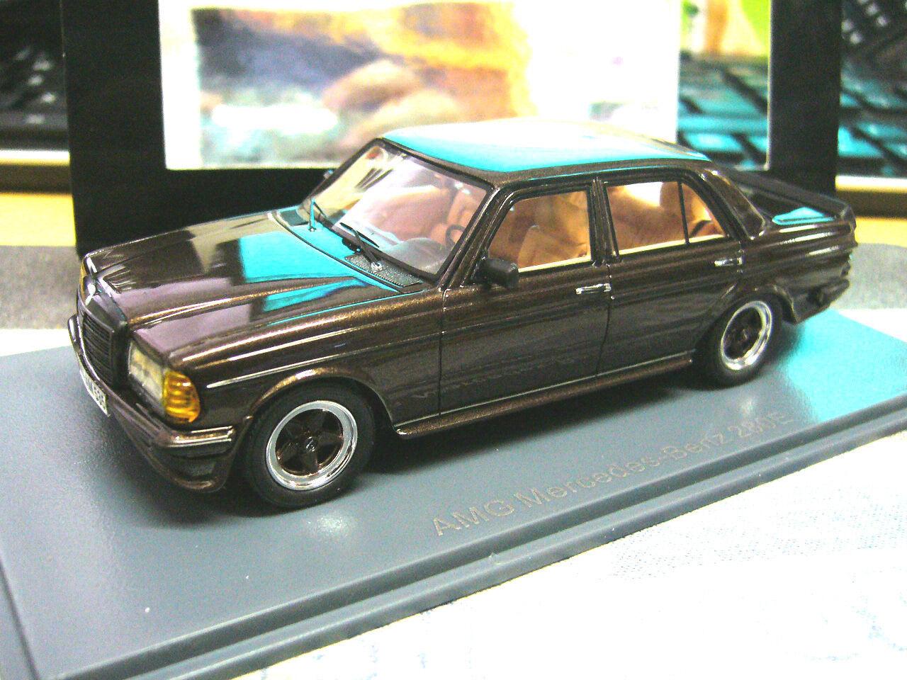 MERCEDES Benz W123 E klasse 280 AMG Tuning 1980 brown brown met NEO Resin 1 43