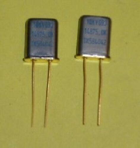 2x Quarz Kristall 14875.00 Khz ; 14.875 Mhz