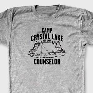12ba18b9d332 Camp Crystal Lake Counselor retro T-shirt Jason Friday 13th Movie ...