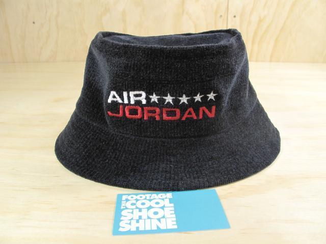 NIKE AIR JORDAN JUMPMAN LOGO BUCKET HAT NEW BLACK VARSITY RED BRED XI L XL