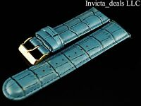 Invicta Lupah Genuine Leather 26mm Baby Blue Replacement Strap Authentic