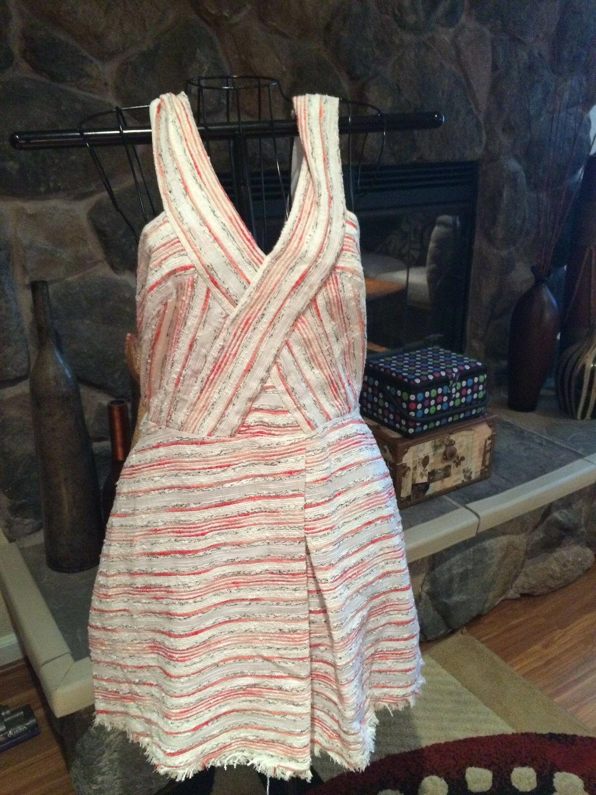 WALTER BAKER NWT Women's Red Berry Dress size L retails for  228