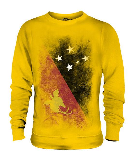 PAPUA NEW GUINEA FADED FLAG FLAG FLAG UNISEX SWEATER TOP PAPUA NIUGINI PAPUAN GUINEAN  | Merkwürdige Form  79f28d