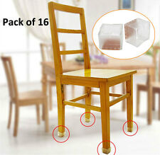 16pcs Square Silicone Chair Leg Caps Feet Pads Table Covers Wood Floor Protector