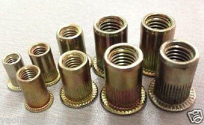 Threaded Rivet Nut Inserts (Nutserts Rivnuts) M4.M5, M6. M8. 100 Mixed Pack