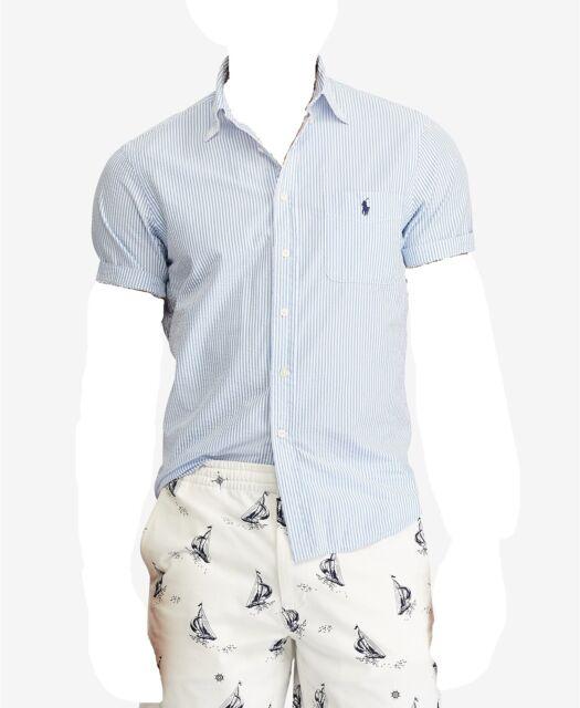 New Polo Ralph Lauren Short Sleeve Pony Logo Chambray Shirt XL XXL