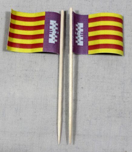 Party-picker Majorque Espagne 50 st dekopicker professionnel qualité papier drapeaux Food