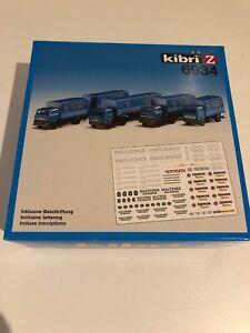 Spur-Z-Kibri-6934-Lkw-s-4-Stueck-Inkl-Beschriftung-Neu-OVP