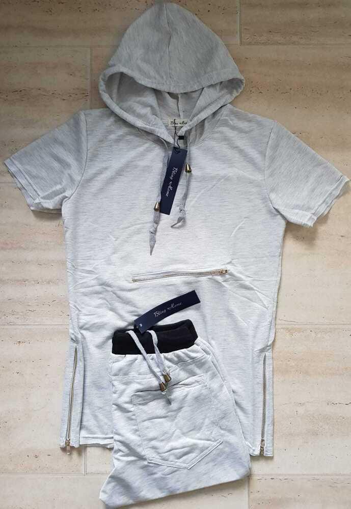 Homme Jogging Ensemble à Capuche T Shirt & Short Full Costume Importés T-shirt Hommes Court Set