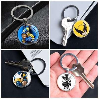Comic Superhero Wolverine Logan Howlett Silver Keyring Pendants Keychains Gifts