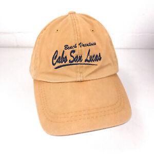Cabo San Lucas Beach Vacations hat cap yellow unworn hbx103