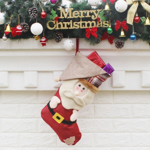 Candy Bag Christmas Gifts Tree Ornament Stocking Santa Claus Snowman Sock Decor