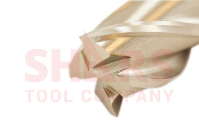 "SHARS 1/4"" x 3/8"" M-42 Cobalt Four Flute Double End Mill NEW"