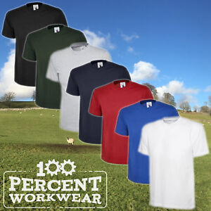 5-x-Uneek-Premium-Quality-Heavyweight-Mens-Tee-T-Shirt-Short-Sleeve-100-Cotton