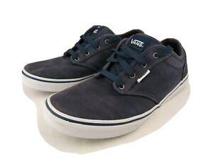 Details about Vans Plain Blue Atwood Style Canvas Trainer Shoes Size UK 6