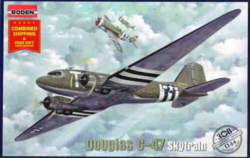 Douglas C-47 Skytrain USAF US Military transport aircraft Roden 308-1//144
