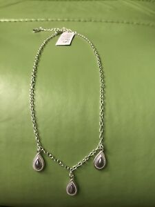 Chaps-Teardrop-Silver-Tone-Frontal-Necklace
