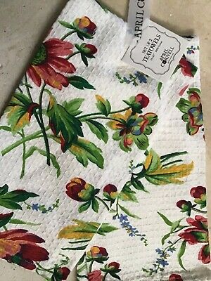 APRIL CORNELL TEA TOWELS RED GOLD GREEN GRAPES 100/% COTTON  NWT