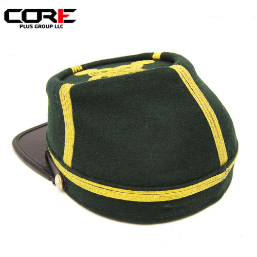Civil War Berdans Green sharpshooter Generals 4 rows of Gold Braids kepi