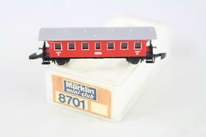 8701-Personenwagen-Laenderbahnwagen-2-Klasse-rot-Maerklin-Spur-Z-OVP-Top