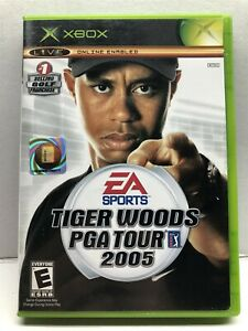 Tiger Woods PGA Tour 2005 - Microsoft Xbox - Complete w/ Manual - Tested Working