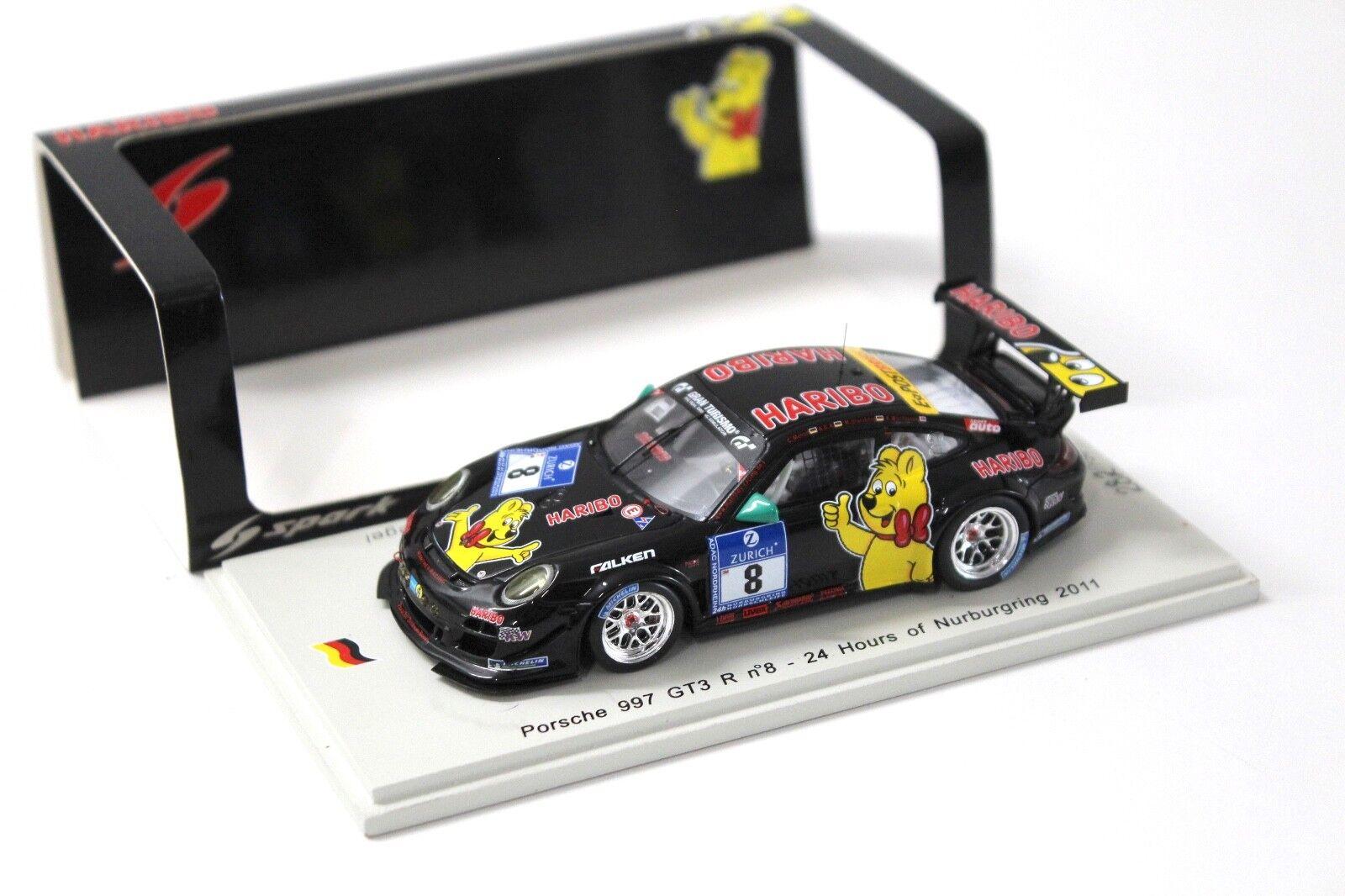 1 43 Spark Porsche 911 gt3 R  24 H 2011 Haribo  8 nouveau chez Premium-modelvoitures  magasin en ligne