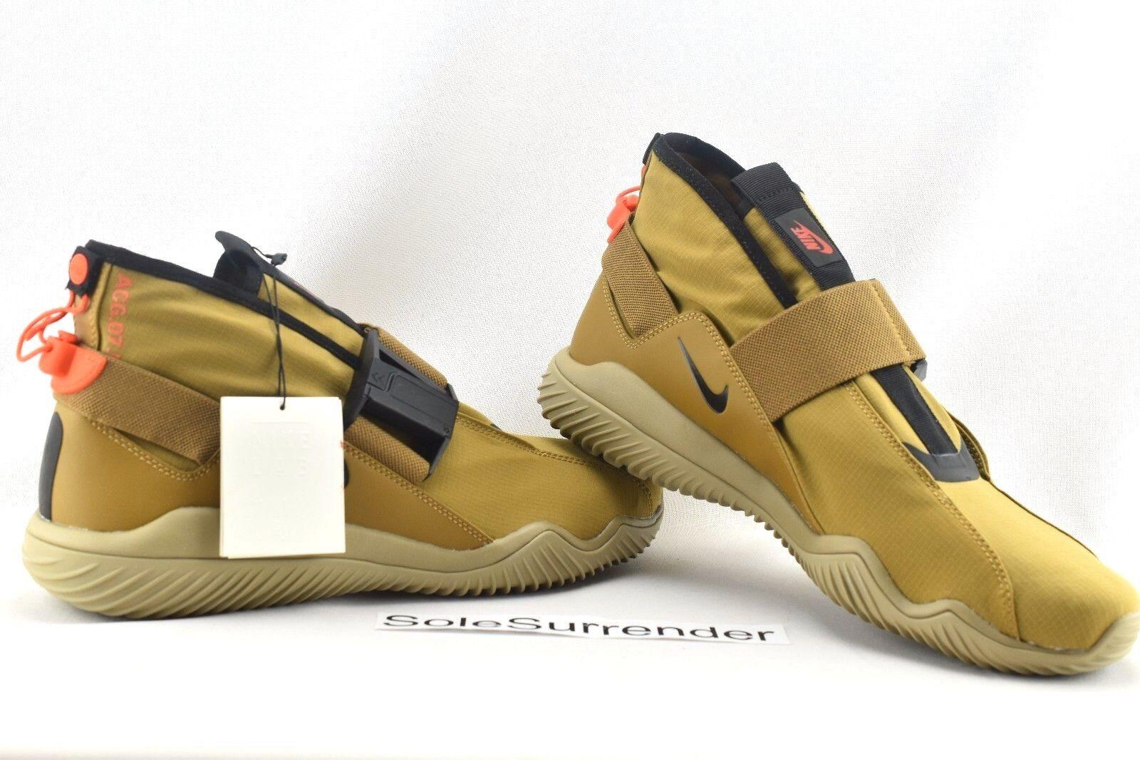 NikeLab ACG 07 KMTR - SIZE 9.5 - 902776-201 Wheat Flax Beige Black Khaki Tan Lab
