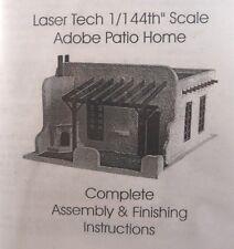 1/144th scale Wood Dollhouse Miniature Adobe Patio Home Kit Spanish Hacienda