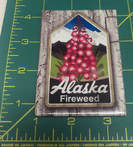 Alaska-Magnet-Beautiful-Fireweed-with-a-wood-looking-background-Made-in-USA