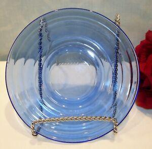 Cobalt Blue Depression Glass Hazel Atlas Moderntone Saucer