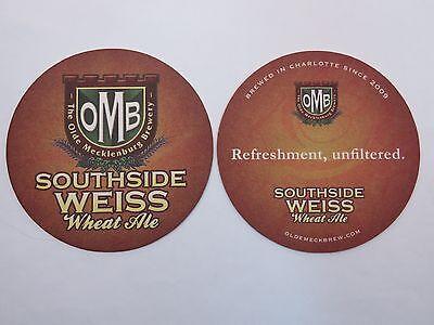 Beer Bar Coaster ~**~ OLDE MECKLENBURG Brewery Southside Weiss ~ Charlotte, N.C.