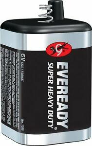 4 Pack 6 Volt Lantern Battery Eveready 1209 Heavy Duty Spring Top FAST SHIPPING