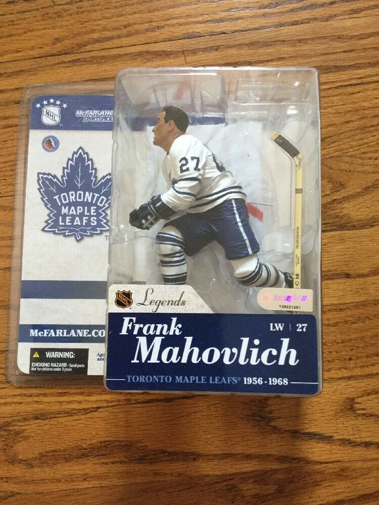 2004 McFarlane NHL Legends Series 1 Frank Mahovlich Maple Leafs Figurine White
