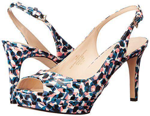 baf5f8ee67b Nine West Able Women US 6 Multi Color Slingback Heel Pre Owned 1576 ...
