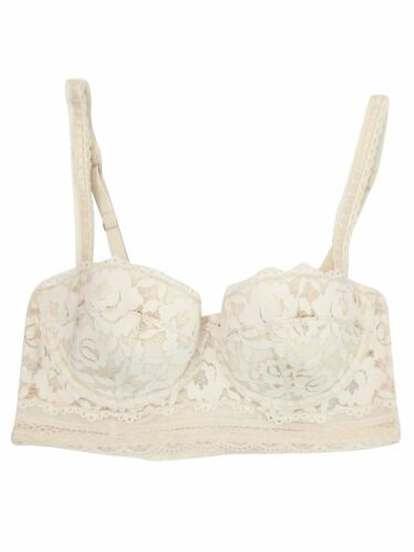 Ex M/&S Marks And Spencer Lightly Padded Lace Longline Balcony Bra