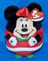 TY Beanie Baby Ballz - MINNIE MOUSE Christmas Holiday Regular Size 5 inch Toys