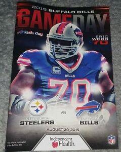 BUFFALO BILLS Gameday Program ERIC WOOD 82915 Pittsburgh Steelers