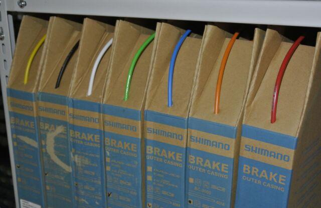 1m Shimano Bremszug Hüllen, Bowdenzug, SLR, 5 mm, Bremszughülle