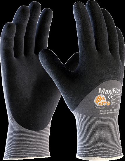 12 X Maxiflex® Definitivo 34-875 3/4 Rivestito Polso A Maglia Lavoro Leggero
