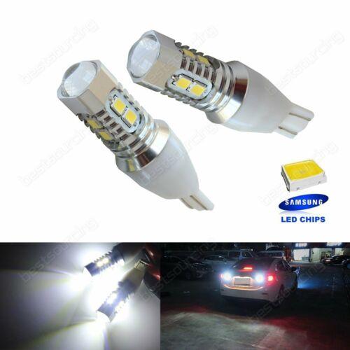 2x T15 194 168 W15W Bombilla Reverse Freno de parada de cola de Estacionamiento Lámparas de Luz LED Blanco