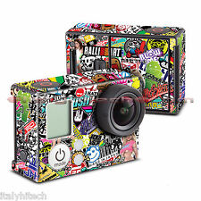 ADESIVO STICKER DECORATIVO CARTOON COMICS CARTONI FUMETTI PER GOPRO HERO HD 3 3+