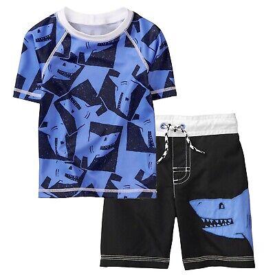 Gymboree Toddler Boys 2-Piece Short Sleeve Rashguard Set