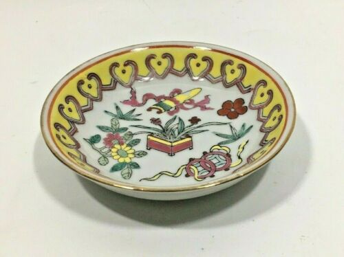 Enamel Hand Painted Wasabi Bowl Old Chinese Dipping Bowl Soy