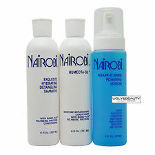 Nairobi Exquisite Hydrating Detangling Shampoo + Humecta-Sil + Wrap-it Shine Set